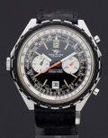 Timepieces:Wristwatch, Breitling Steel Navitimer Chrono-Matic. ...