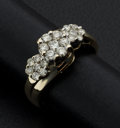 Estate Jewelry:Rings, Diamond & Gold Cluster Ring. ...