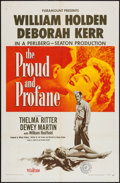 "Movie Posters:War, The Proud and Profane (Paramount, 1956). One Sheet (27"" X 41"").War.. ..."