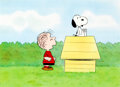 Animation Art:Production Cel, Charlie Brown and Snoopy Show Snoopy and Linus ProductionCel (Lee Mendelson/Bill Melendez, 1983)....
