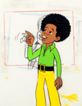 Animation Art:Production Cel, The Jackson Five Michael Jackson Production Cel Set-Up withDrawing (Rankin-Bass, c. 1972).... (Total: 3 Items)