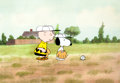Animation Art:Production Cel, Charlie Brown and Snoopy Show Baseball Scene Production Celand Matching Drawings Group (Lee Mendelson/Bill Melendez, ...(Total: 3 Original Art)