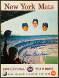 Baseball Collectibles:Publications, 1969 New York Mets Team Signed Yearbook - World Championship Season!...