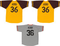 Baseball Collectibles:Uniforms, Collection of Three Gaylord Perry Signed Jerseys. ...