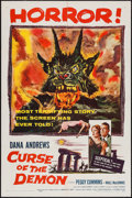 """Movie Posters:Horror, Curse of the Demon (Columbia, 1957). One Sheet (27"""" X 41""""). Horror.. ..."""