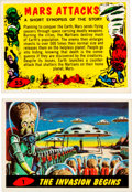 Memorabilia:Trading Cards, Mars Attacks! Trading Cards Complete Set (Topps, 1962)....(Total: 55 Items)