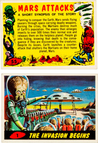 Mars Attacks! Trading Cards Complete Set (Topps, 1962).... (Total: 55 Items)