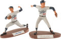 Baseball Collectibles:Others, Sandy Koufax & Don Drysdale Signed Salvino Statues. ...