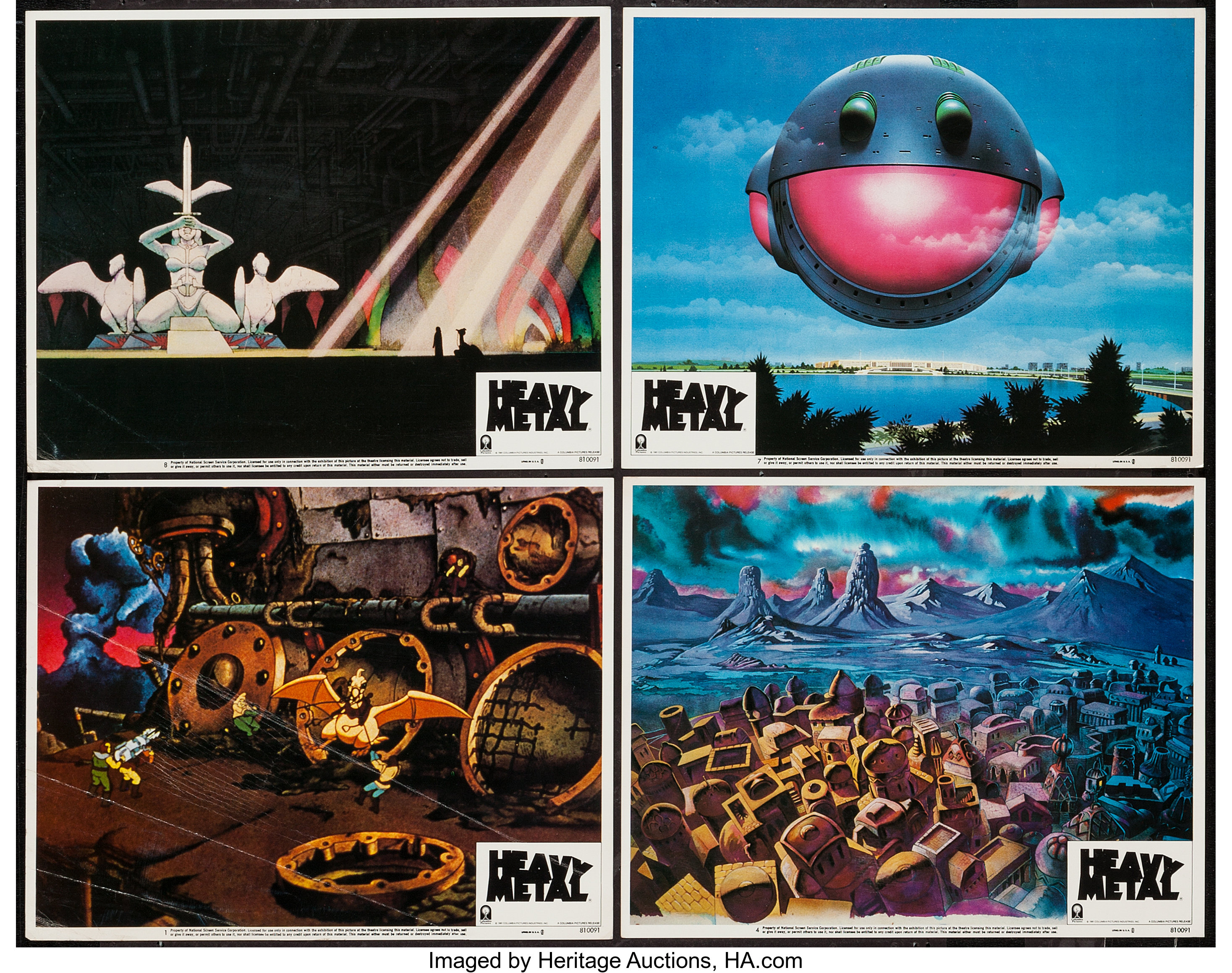 Heavy Metal Columbia 1981 Lobby Cards 4 11 X 14 Lot 51213 Heritage Auctions