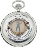 Boxing Collectibles:Memorabilia, 1920 Jack Dempsey Presentational Timekeeper's Pocket Watch....
