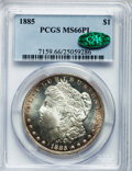 Morgan Dollars: , 1885 $1 MS66 Prooflike PCGS. CAC. PCGS Population (49/2). NGC Census: (40/5). Numismedia Wsl. Price for problem free NGC/P...