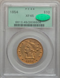 Liberty Eagles, 1854 $10 XF45 PCGS. CAC....