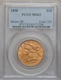 Liberty Eagles, 1890 $10 MS62 PCGS....