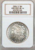 Morgan Dollars: , 1886-S $1 MS64 NGC. Ex: Redfield. NGC Census: (715/129). PCGSPopulation (1219/297). Mintage: 750,000. Numismedia Wsl. Pric...