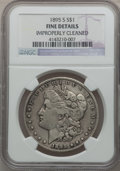 Morgan Dollars: , 1895-S $1 -- Improperly Cleaned -- NGC Details. Fine. NGC Census:(96/1520). PCGS Population (151/2604). Mintage: 400,000. ...