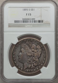 Morgan Dollars: , 1895-S $1 Fine 15 NGC. NGC Census: (87/1433). PCGS Population(166/2438). Mintage: 400,000. Numismedia Wsl. Price for probl...
