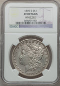 Morgan Dollars, 1895-S $1 -- Whizzed -- NGC Details. XF. NGC Census: (74/1134).PCGS Population (149/1770). Mintage: 400,000. Numismedia Ws...
