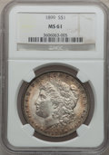 Morgan Dollars: , 1899 $1 MS61 NGC. NGC Census: (371/7054). PCGS Population(224/9754). Mintage: 330,846. Numismedia Wsl. Price for problemf...