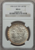 Morgan Dollars: , 1900-O/CC $1 MS61 NGC. Top-100. NGC Census: (101/2049). PCGSPopulation (103/4720). Numismedia Wsl. Price for problem free...