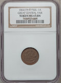 Civil War Merchants, 1864 Great Central Fair, Philadelphia, Pennsylvania MS65 Brown NGC. Baker-363, Fuld-PA750L-1a, Julian CM-43....