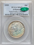 Commemorative Silver: , 1935 50C Arkansas MS65 PCGS. CAC. PCGS Population (507/170). NGCCensus: (391/95). Mintage: 13,012. Numismedia Wsl. Price f...