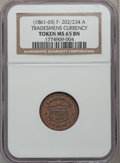 Civil War Patriotics, Tradesmens Currency MS65 Brown NGC. Fuld-202/434a. Incorrectlyattributed by NGC as Fuld-202/234a....