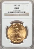 Saint-Gaudens Double Eagles: , 1927 $20 MS64 NGC. NGC Census: (50645/21169). PCGS Population(43933/30318). Mintage: 2,946,750. Numismedia Wsl. Price for ...