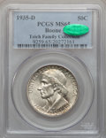 Commemorative Silver: , 1935-D 50C Boone MS65 PCGS. CAC. PCGS Population (329/92). NGCCensus: (236/91). Mintage: 5,005. Numismedia Wsl. Price for ...