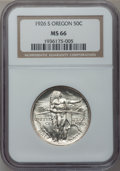 Commemorative Silver: , 1926-S 50C Oregon MS66 NGC. NGC Census: (619/186). PCGS Population(378/117). Mintage: 83,055. Numismedia Wsl. Price for pr...