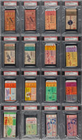 Baseball Collectibles:Tickets, 1952-64 Mickey Mantle World Series Home Runs Ticket Stubs CompleteRun....