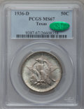 Commemorative Silver: , 1936-D 50C Texas MS67 PCGS. CAC. PCGS Population (312/13). NGCCensus: (257/10). Mintage: 9,039. Numismedia Wsl. Price for ...