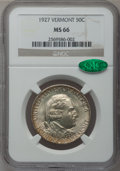 Commemorative Silver: , 1927 50C Vermont MS66 NGC. CAC. NGC Census: (201/19). PCGSPopulation (304/22). Mintage: 28,142. Numismedia Wsl. Price for ...