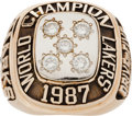 Basketball Collectibles:Others, 1987 Los Angeles Lakers NBA Championship Ring....