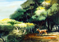 Animation Art:Production Drawing, Lew Keller Bambi Preliminary Color Key Test BackgroundSketch (Walt Disney, 1942)....