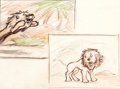 Animation Art:Production Drawing, Mighty Mouse The Lion and the Mouse Storyboard (Terrytoons,1943)....