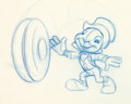 "Animation Art:Production Drawing, Mickey Mouse Club ""I'm No Fool"" Jiminy Cricket ProductionDrawing and Model Sheet Group (Walt Disney, 1950... (Total: 5 )"