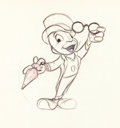 Animation Art:Production Drawing, Mickey Mouse Club Jiminy Cricket Production Drawing (WaltDisney, 1950s)....