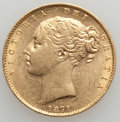 Australia, Australia: Victoria gold Shield Sovereign 1871-S,...
