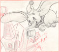 Animation Art:Production Drawing, Ward Kimball Dumbo Storyboard Art (Walt Disney, 1941)....