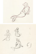 Animation Art:Production Drawing, Fred Moore (attributed) Peter Pan Mermaids ProductionDrawing Group (Walt Disney, 1953).... (Total: 2 Items)