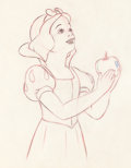 Animation Art:Production Drawing, Snow White and the Seven Dwarfs Snow White with Apple Production Drawing (Walt Disney, 1937)....