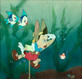 Animation Art:Production Cel, Pinocchio Production Cel with Courvoisier Background (Walt Disney, 1940)....