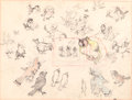 Animation Art:Production Drawing, Birds in the Spring Production Drawing (Walt Disney,1933)....