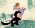 Animation Art:Production Cel, Peter Pan Lost Boys Production Cel with Hand-PaintedBackground (Walt Disney, 1953)....