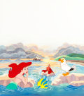 Animation Art:Production Cel, The Little Mermaid Production Cel with Hand-Painted Background (Walt Disney, 1989)....