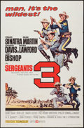 "Movie Posters:Western, Sergeants 3 (United Artists, 1962). One Sheet (27"" X 41""). Western.. ..."