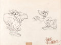 Animation Art:Production Drawing, Dumbo Two Crows Production Drawing by Ward Kimball (Walt Disney, 1941)....