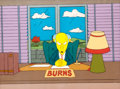 Animation Art:Production Cel, The Simpsons Mr. Burns Production Cel with Background (Fox,1990)....