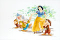 Animation Art:Production Drawing, Gene Ware Snow White with Grumpy, Dopey, and Bashful BookIllustration Art (Walt Disney, c. 1980s)....