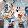 Animation Art:Production Drawing, Gene Ware Snow White and Seven Dwarfs Book Illustration Art (Walt Disney, 1987)....